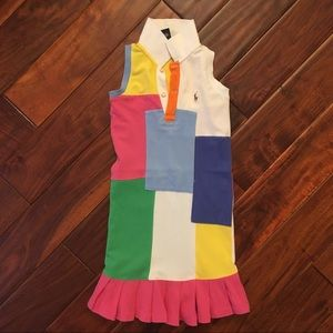 Ralph Lauren Sleeveless Patchwork Dress